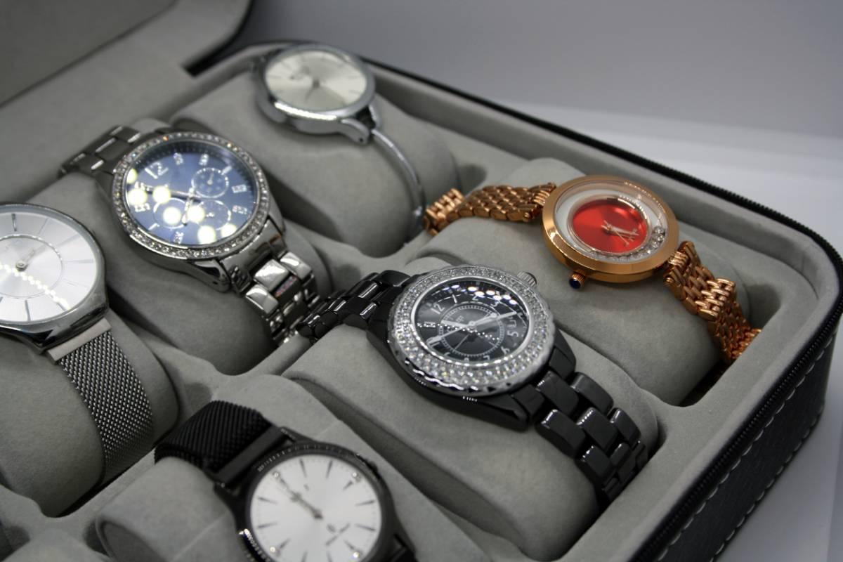 montres de luxe rangées